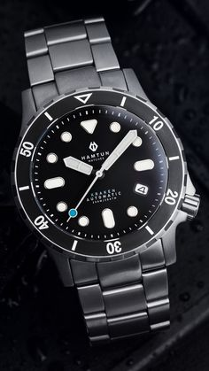 We build affordable automatic watches designed in the UK. Our first model, the is a titanium dive watch featuring a Seiko automatic movement. Best Cheap Watches, Best Watches For Men, Cool Watches, Rolex Watches, Black Watches, Affordable Automatic Watches, Best Affordable Watches, Automatic Watches For Men, Dream Watches