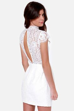 adorable little white dress for a summer party #partydress