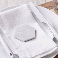 Marble Personalised Place Setting / Place card