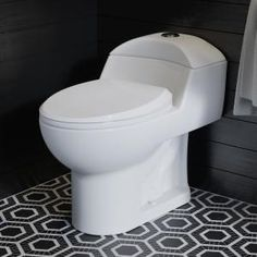 Swiss Madison 0.8/1.28 GPF Plaisir Wall Hung Dual Flush Elongated Toilet Bowl in White-SM-WT660 - The Home Depot Clean Design, Modern Design, Modern Toilet Design, Dual Flush Toilet, Small Toilet, Wall Mounted Toilet, Toilet Bowl, Toilet Sink, Wood Bridge