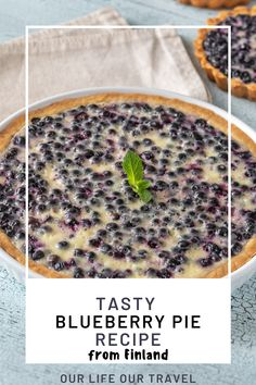 Try this Deliciously sweet and juicy traditional Finnish Blueberry Pie Recipe.! This homemade blueberry pie is not only a summer dessert, you can use frozen blueberries or fresh blueberries. Crunchy crust, creamy inside. Our favorite homemade dessert. Bake this Finnish Pie today! #pie #blueberries #blueberrypie #best #recipe #easy #fresh #frozen #fromscratch #homemade #finnishfood #finnishdessert #finnish Homemade Blueberry Pie, Blueberry Pie Recipes, Homemade Desserts, Easy Healthy Recipes, Delicious Recipes, Yummy Food, Food Tips, Food Hacks