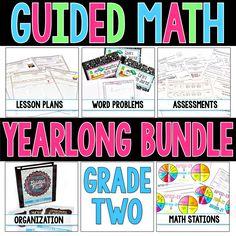 Guided Math Yearlong 2nd Grade Bundle