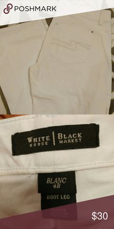 White Jeans White House Black Market size 4 Regular, white jeans. Excellent condition. Jeans Boot Cut