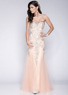 Envious Couture by Karishma Creations 15075 Blush Pink Jeweled Mermaid Prom Dress