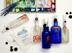 painted bottles - DIY idea