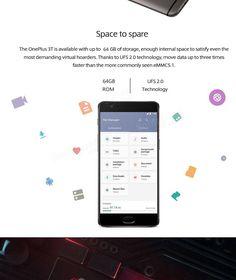 OnePlus 3T 5.5 inch Fingerprint 6GB RAM 64GB ROM Snapdragon 821 Quad core 4G Smartphone