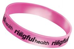 A perfect item for festivals, races, or participant gift bag, these are breast cancer awareness bracelets with a twist. Bracelets change from pink to white with the heat of your hand.