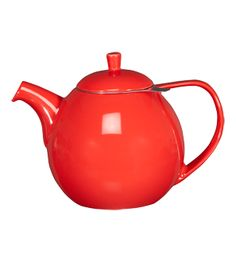 A sweet, curvy tea pot.