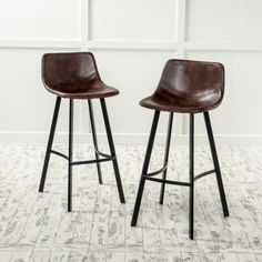 petite Dax Faux Leather Snake Skin Pattern Barstool (Set of by Christopher Knight Home (Brown) Bar Stools With Backs, Steel Frame Construction, Counter Bar Stools, Kitchen Stools, Kitchen Island, Island Bar, Kitchen Dining, Bar Furniture, Furniture Outlet