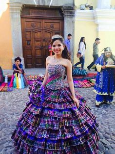828d38b71d Gorgeous Guatemalan gown! Skirt made from traditional woven fabric. I want  one of these