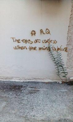words of wisdom on the wall, Kardhitsa, Greece...