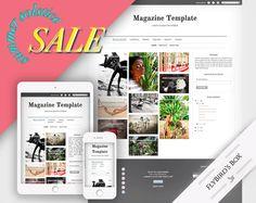 Responsive Blogger Template Magazine  Blogger by FlyBirdBranding