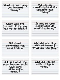 End of the day exit tickets