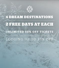 The Mountain Collective Pass -  2 Free days at each Jackson Hole, Alta, Aspen Snowmass, Alpine, Squaw Valley. $349