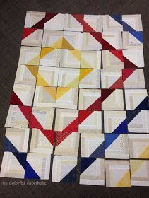 """Log Cabin Triangl... **Make HST at 8"""" and then use 2.5"""" strips to make it bigger."""