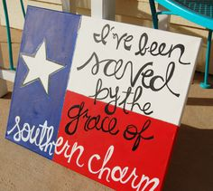 Texas Southern Charm Canvas// Texas Flag by KanvasbyKenzie on Etsy