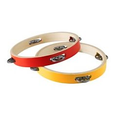 IKEA - LATTJO, Tambourine, Playing the tambourine helps your child develop its sense of rhythm and improves hand-eye coordination.