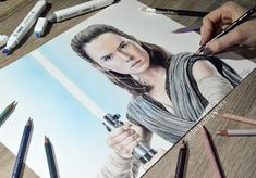 REY  . After 22 hours of coloring, I finally call this piece done!