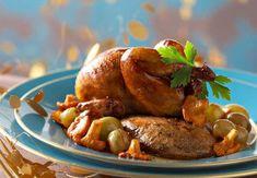Les cailles rôties au foie grasAprès une entrée légère, ce plat sera le bienvenuVoir larecette des cailles rôtis au foie gras