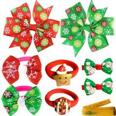 2 pairs of Dog Cat Pet Christmas Hair Clips and Hair Bands for Puppy Kitten Small Dogs Cats Pets ** Want to know more, click on the image. (This is an Amazon affiliate link)