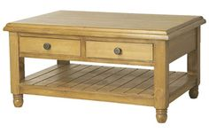 Brando Solid Pine Coffee Table with 2 drawers and shelf  ~  CTV-CP-PRO33 Richard Dolan, Pine Coffee Table, Solid Pine, Drawers, Shelf, New Homes, Traditional, House, Furniture