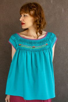 Vintage Mexican Blouse~