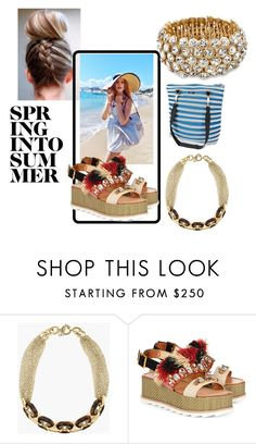 """""""Spring Into Summer"""" by stylediva20 ❤ liked on Polyvore featuring BCBGMAXAZRIA, Michael Kors, Sanchita and BAM BAGS"""