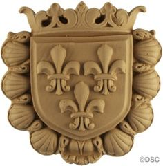 Heraldic Shield 5626 6H X 6W x 5/8Relief by Decorators Supply, Chicago, Il