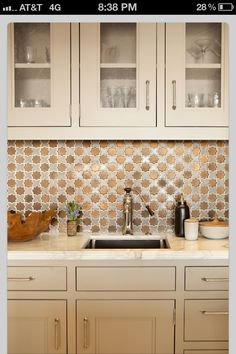 Metallic backsplash, umm...YES!!