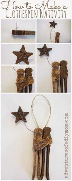 Clothespin Nativity Scenes
