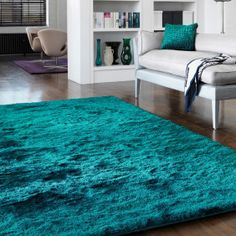 whisper teal rug by samanthasam Teal Living Rooms, Living Room Modern, Rugs In Living Room, Interior Design Living Room, Living Room Decor, Teal Room Decor, Aqua Rug, Turquoise Rug, Teal Area Rug
