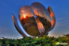 The self-blooming sculptural flower of Buenos Aires, Argentina.