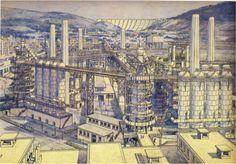 SOURCES OF THE MODERN MOVEMENT TONY GARNIER Cité Industrielle, project,Paris, 1901-4