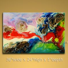 Astonishing Modern Abstract Painting Hand Painted Oil Painting Stretched Ready To Hang Abstract. In Stock $168 from OilPaintingShops.com @Bo Yi Gallery/ ops7072