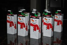 Snowmen juice boxes - Christmas party This is cute too, but may be too much work for my non-creative self @nattieja