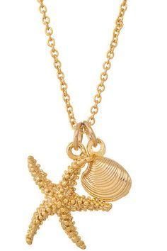 Gone Coastal Necklace - Starfish + Shell