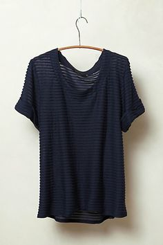 Sheerstripe Tee #anthropologie Sure it is from the rich white girl store, but i still want it.