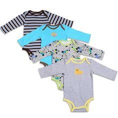 3   4   5 PCS Estilo Dos Desenhos Animados Do Bebê Menina Menino Roupas de c1e6ab1745b34