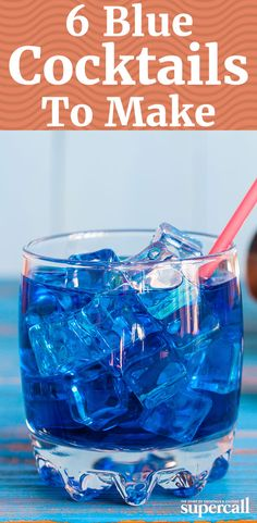 From an aqua-stained Martini that stands up to any of its fellow vodka-based variations, to an interstellar tiki vacation in a glass, here are the best blue cocktails.=