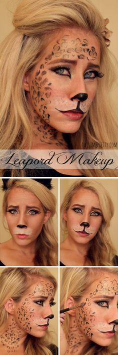Halloween makeup ideas: Leopard. | Halloween | Pinterest ...