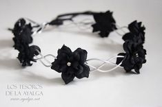Gothic Jewelry floral crown flower circlet gothic crown by Ayalga on Etsy, - Gothic flower crown. Can be adjust on the back with a lace Flower Hair Accessories, Jewelry Accessories, Jewelry Design, Flower Jewelry, Fantasy Jewelry, Gothic Jewelry, Cute Jewelry, Hair Jewelry, Gothic Crown