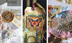 Gorgeous collages.  Link to 'Paint Paper Paste E-Workshop' =)