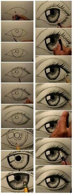 Beautiful Eye Drawing Tutorial