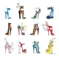 Les Chaussures #shoes #fashionillustration #accessories #gucci #balmain #burakuyan #aquazurra #alejandroingelmo #giuseppezanotti #dior #pierrehardy #dolcegabbana #thedailyscribble