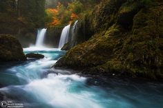 Mother Nature at her finest -- A waterfall in the Columbia River Gorge, Washington.