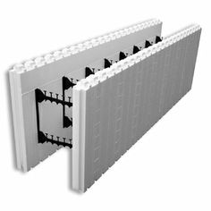 Fox blocks straight block with 12 core insulated concrete for Insulated block house