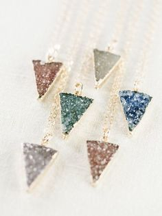 Kei necklace gold druzy pendant necklace