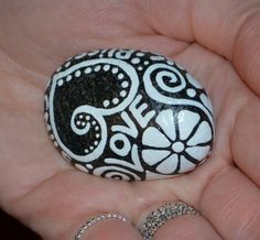 Painted rock, Meditation stone, worry rock, wellness stone, hand painted, painted rocks, painted stones