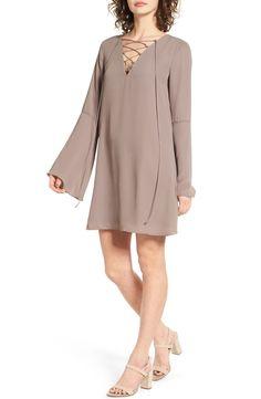 Soprano Lace-Up Shift Dress