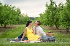 Engagement Photos - Apple Orchard